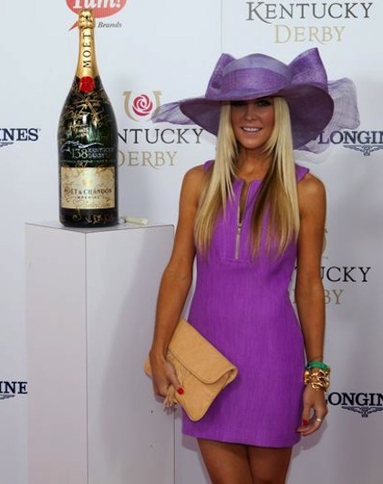 #15 tinsley mortimer on the red carpet at 2012 kentucky derby