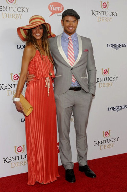 #17 kellan lutz and sharni vinson on 2012 kentucky derby red carpet