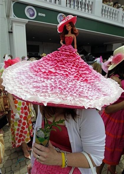 #2 barbie hat 2012 kentucky derby crazy hats