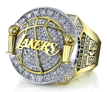 #2 los angeles lakers 2010 nba championship ring