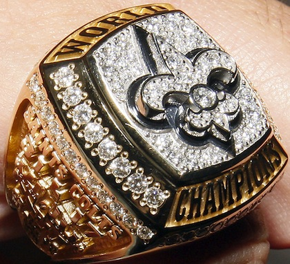 #2 new orleans saints 2010 Super Bowl XLIV championship ring