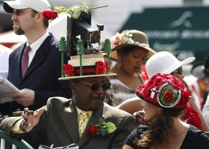 #3 2012 kentucky derby camera hat