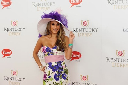 #3 bonnie jill laflin at 2012 kentucky derby red carpet
