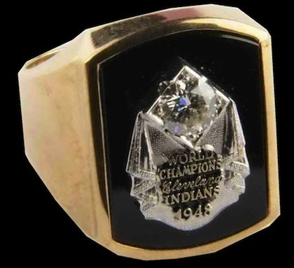 #3 cleveland indians 1948 world series championship rings