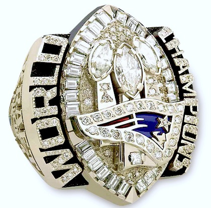 #3 new england patrios 2005 Super Bowl XXXIX championship ring