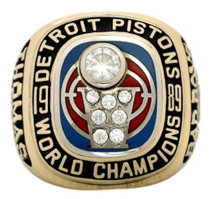 #3 pistons 1989 nba championship ring