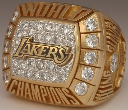#4 lakers 2000 nba championship ring