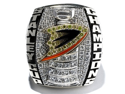 #5 anaheim ducks 2007 stanley cup championship ring