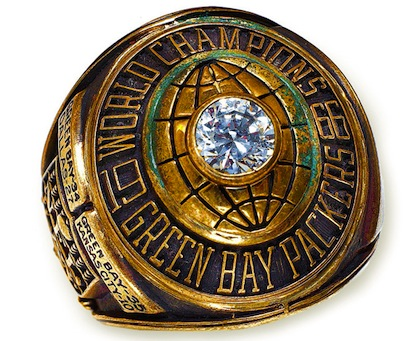 #5 green bay packers 1967 Super Bowl I championship ring