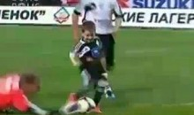 5-Year-Old Boy Scores During Professional Soccer Match (Video)