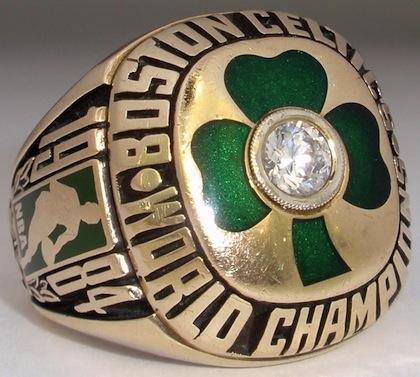 #6 celtics 1984 nba championship ring