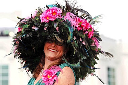 #6 crazy weird funny stupid 2012 kentucky derby hats huge feather hat