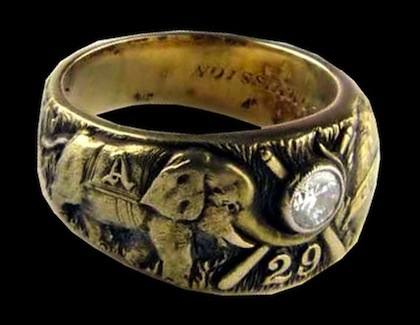 #6 philadelphia athletics 1929 world series championship rings