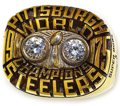 #6 pittsburgh steelers 1976 Super Bowl X championship ring