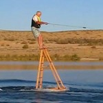65-year-old wakeboard on ladder