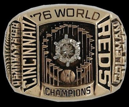 #7 cincinnati reds 1976 world series championship ring
