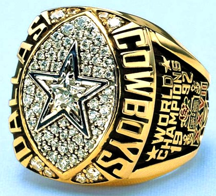 #8 Dallas cowboys 1993 Super Bowl XXVII championship ring