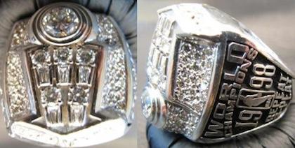 #8 bulls 1998 nba championship rings