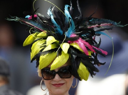 #8 crazy weird funny stupid 2012 kentucky derby hats scary feather hat
