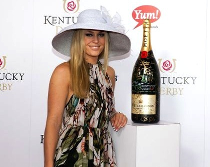 #8 lindsay vonn on the red carpet at 2012 kentucky derby