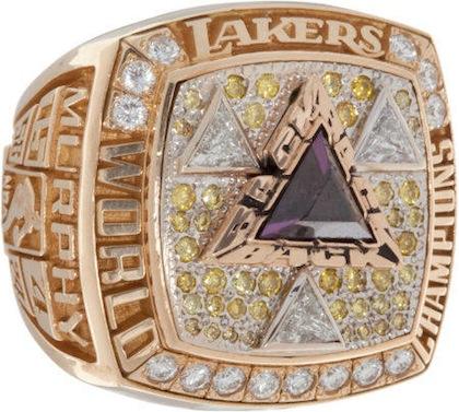 #9 lakers 2002 nba championship rings