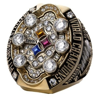 #9 pittsburgh steelers 2009 super bowl championship ring