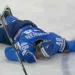 Roman Starchenko unconscious