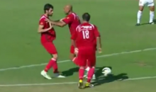 Israeli Soccer Team's Trick Play Catches Goalie Off-Guard (Video)