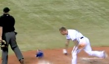 Blue Jays' Brett Lawrie Hit the Umpire With His Helmet Last Night (Video)