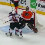 bryzgalov give-away goal loses series for flyers