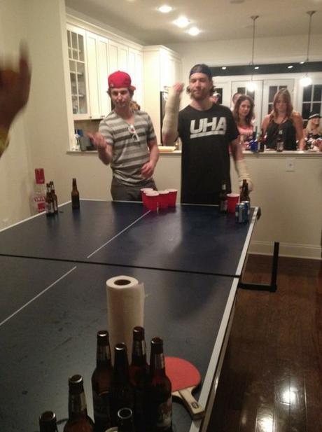 claude giroux beer pong