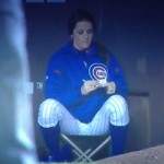 cubs ball girl gives number to fan
