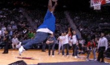 Fat Man Provides Epic Fail During Halftime Dunk Attempt (GIF)