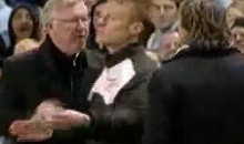 Tempers Flare Between Sir Alex Ferguson And Roberto Mancini During Manchester Derby (Video)