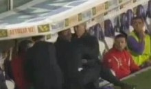 Fiorentina Coach Delio Rossi Attacks His Own Player (Video)