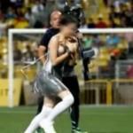 Wardrobe Malfunction At A Singapore Soccer Match (Video ...
