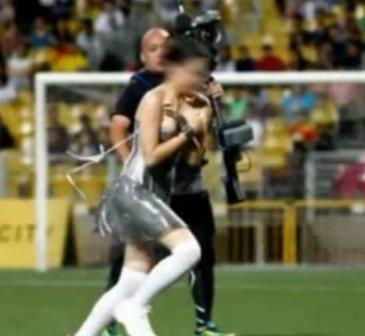 Wardrobe Malfunction At A Singapore Soccer Match Video