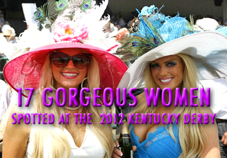 gorgeous women at the 2012 kentucky derby