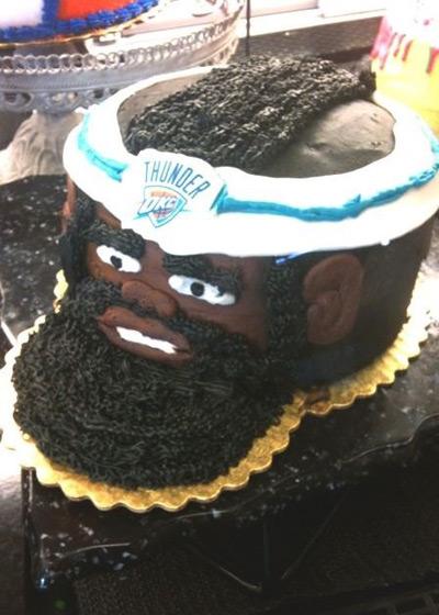 james harden cake