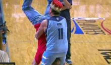 "Jerry ""The King"" Lawler Piledrives A Clippers Fan At The Grizzlies' Game (Video)"