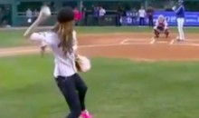 Is This The Worst Ceremonial First Pitch Ever? (Video)