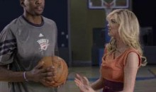 Kevin Durant And James Harden Take Kate Upton To Work (Video)