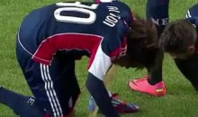 NE Revolution's Kevin Alston Loses His Lunch On The Pitch (Video)