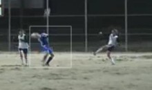 Female Soccer Player Takes A Ball To The Face From Point-Blank (Video)