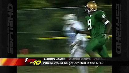 lebron james football