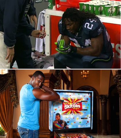 marshawn lynch dwight howard skittles