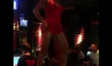 Hot MILF Celebrates Miami Heat Win By Dancing And Stripping On A Bar (Video)