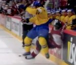 Watch Niklas Kronwall Flatten Latvia's Kaspars Saulietis at IIHF World Championships (Video)
