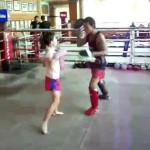 nine-year-old kickboxer