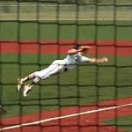 pitcher diving catch